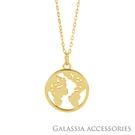 G.A 純銀飾品 設計款項鍊-環遊世界《GA》NE045 情人節 女友生日禮物 純銀飾 穿搭必備 網美款