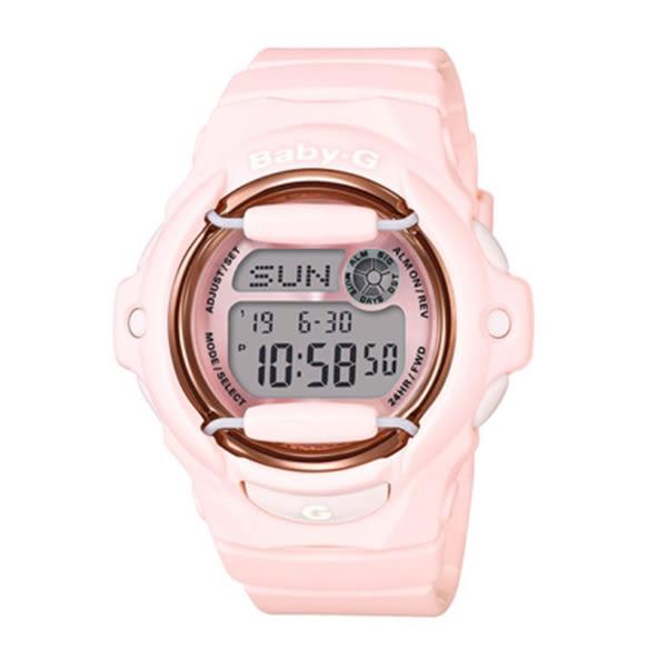 【僾瑪精品】CASIO卡西歐 BABY-G 花朵雙顯電子錶-粉紅/BG-169G-4B