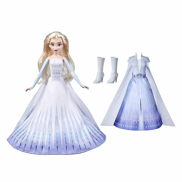 Disney Frozen 2 冰雪奇緣 艾莎娃娃 B0824SCJ3N 2髮2服裝 Transformation Fashion Doll[2美國直購]