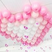 啞光氣球吊墜雨絲氣球套餐兒童成人生日佈置用品爛漫主題裝飾掛飾