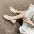 潮女涼鞋 2021春夏新款小皮鞋女杏色軟皮英倫風一腳蹬日系復古百搭平底鞋【快速出貨八折搶購】
