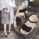 涼鞋女士年夏季新款厚底學生仙女風百搭時裝溫柔平底鞋ins潮 魔法鞋櫃