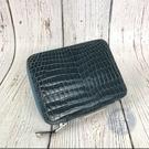 BRAND楓月 HERMES愛馬仕 H刻 經典 藍綠色 鱷魚皮 拉鍊 筆記本包 護照夾 卡包 錢包