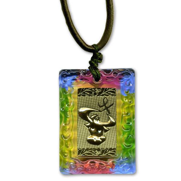 鹿港窯~居家開運金箔琉璃項鍊~十二生肖 ◆附精美包裝 ‧購物清單:一條