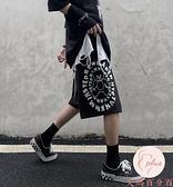 大碼運動短褲男夏季復古小熊字母印花百搭休閒褲短褲【大碼百分百】