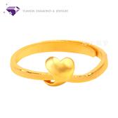 【元大鑽石銀樓】『純真』黃金戒指 活動戒圍-純金9999國家標準