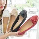 【獨家訂製】豆豆包鞋.蝴蝶結流蘇平底豆豆鞋.白鳥麗子