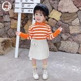 打底衫女童加絨打底衫冬半高領女寶寶加厚上衣嬰兒長袖毛衣兒童保暖內搭童趣屋促銷好物