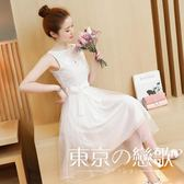 學生少女歐根紗小禮服洋裝