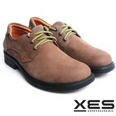 XES 男鞋 個性休閒 民族風 率性 真皮 圓頭 休閒鞋 實穿灰