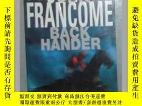 二手書博民逛書店原版英文小說罕見《 Back Hander 》John Fran