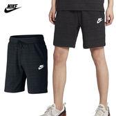 Nike Sportswear 男 黑 運動短褲 Advance棉褲 休閒褲 慢跑 健身 五分褲慢跑褲 885926010