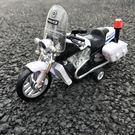 合金回力車摩托玩具模型摩托賽車警車車模兒...