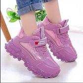 兒童鞋 女童棉鞋2021冬季加毛加厚中大童女孩運動鞋兒童鞋小學生加絨潮鞋【快速出貨八折下殺】