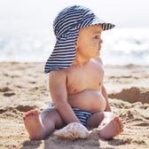 新品嬰兒防曬護頸帽 兒童太陽帽 寶寶漁夫遮陽帽子防紫外線沙灘帽 森活雜貨