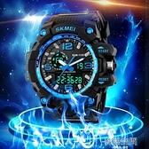 戶外運動青少年大錶盤防水兒童電子錶男學生 雙顯LED中學生手錶男 【韓語空間】