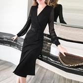 春秋女神范魚尾洋裝2020新款修身中長款氣質顯瘦小禮服平時可穿 【ifashion·全店免運】