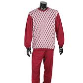 BURBERRY經典格紋保暖休閒家居服(紅色)085561