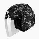 【東門城】SOL 27Y 環遊世界(消光黑白) 半罩式安全帽 女生帽(新品預購)