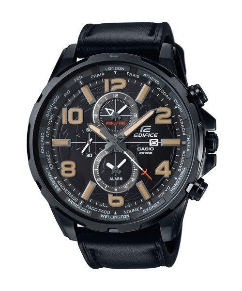 【時間光廊】CASIO 卡西歐 EDIFICE 黑色皮帶 三眼錶 全新原廠公司貨 EFR-302L-1AVUDF