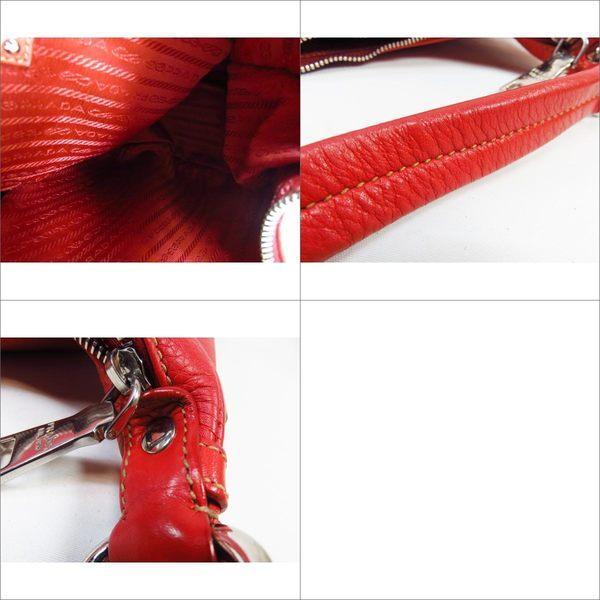 【特價41%OFF】PRADA 普拉達 紅色牛皮肩背包【二手名牌 BRAND OFF】