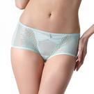 LADY 華麗樂園系列 蕾絲中低腰平口褲(湖光綠)