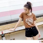 《AB13072-》台灣製造.高含棉美式斑駁印花長版T恤上衣 OB嚴選