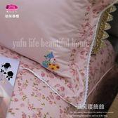 精梳棉五件式【床罩】(6*7尺) /御芙專櫃『戀家玫瑰』粉☆╮60/40支棉/特大
