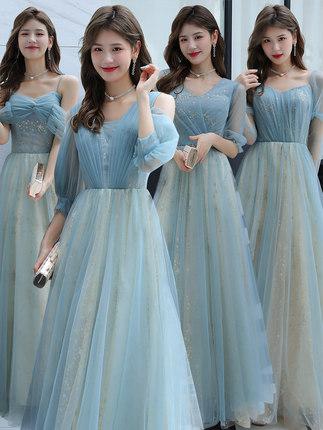 伴娘服高級感2021新款仙氣顯瘦伴娘團姐妹服生日宴會氣質小晚禮服裙女婚禮聚會表演約會小洋裝