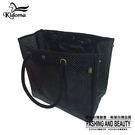 手提袋-超大容量編織海灘袋-黑 -010