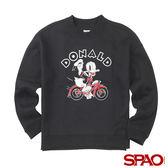 SPAO女款迪士尼聯名款唐老鴨大學長袖T恤