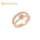 戒指 925純銀鍍玫瑰金「我愛妳」戒指 / 情人禮物