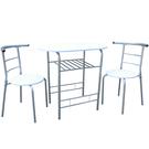 [1桌2椅]高級鋼管-餐桌椅組 吧台桌椅組 洽談桌椅組(二色可選)CH2056