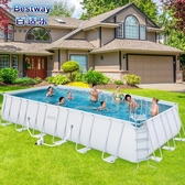 大型泳池特大型支架夾網別墅家用成人小孩兒童游泳池加厚戲水池養魚池台北日光NMS
