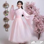 古裝兒童女古箏演出服女漢服女童古裝仙女裝中國風古代衣服萬圣節