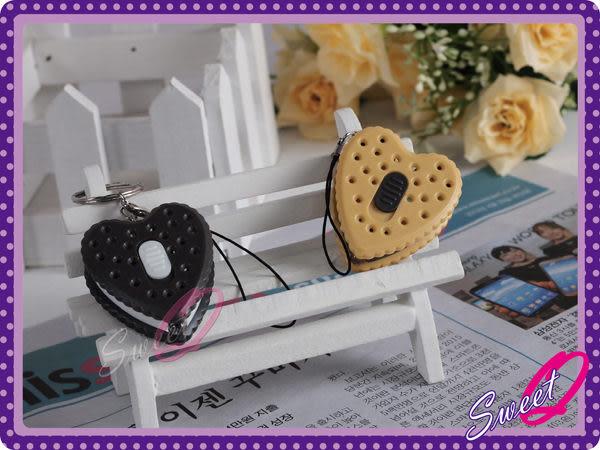 ☆韓妮小舖☆【EX1069】愛心夾心餅乾手電筒 愛巢 鑰匙圈 掛飾 吊飾 配飾 菇菇筆