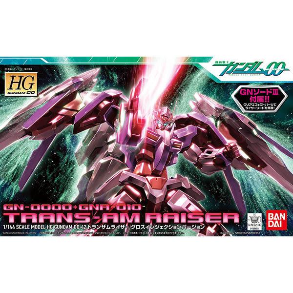 鋼彈00 BANDAI 組裝模型 HG 1/144 GN-0000+TRANS-AM RAISER 00鋼彈+GN劍III 42