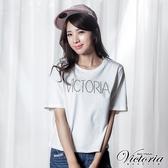 Victoria 蕾絲剪接寬鬆短袖T-女