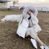 梨卡 - 甜美氣質大毛領短版防風保暖連帽鋪棉羽絨棉外套風衣短大衣AR108