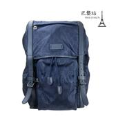 【巴黎站二手名牌專賣店】*現貨*GUCCI 真品*510336經典雙G緹花 藍色尼龍後背包