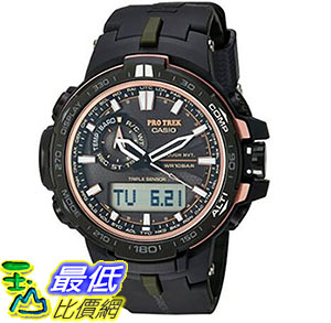 [美國直購] 手錶 Casio Mens Pro Trek Quartz Stainless Steel and Resin Sport Watch (Model: PRW-S6000Y-1CR)