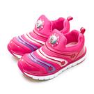 LIKA夢 Disney 迪士尼 16cm-20cm 冰雪奇緣 FROZEN 兒童電燈慢跑鞋 毛毛蟲鞋 桃紅 94472 中童