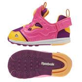 Reebok Pump Fury 男 女孩 小童鞋 桃紅 黃 魔鬼氈 運動休閒鞋 學步鞋 BD2379