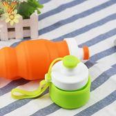 兒童軟硅膠水杯寶寶便攜壓縮杯子學生戶外防漏折疊水壺【潮咖地帶】