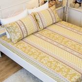雙人床包組(含枕套) - 100%精梳棉-法國莊園【大鐘印染、台灣製造】#精梳純綿