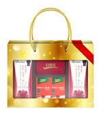 白蘭氏氣色紅潤禮盒--紅膠原青春凍10入x2盒+深海魚油+蝦紅素30錠2瓶+收納束口袋
