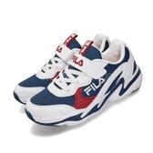 Fila 慢跑鞋 MD 白 藍 童鞋 中童鞋 大童鞋 女鞋 運動鞋 【PUMP306】 3J803T123