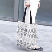 帆布袋 側背包 蕾絲 鏤空 清新 手提包 帆布包 環保購物袋-手提/單肩包【AL206】 BOBI  09/20