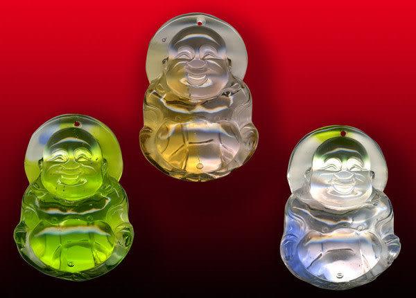 鹿港窯~開運古法水晶琉璃雕項鍊~彌勒佛◆附精美包裝◆免運費送到家