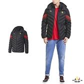Puma MCS 黑色 鋪棉夾克 極輕 法拉利 時尚 連帽立領 風衣 保暖 鋪棉外套 59794302